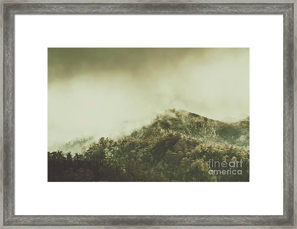 Rugged Atmosphere Framed Print