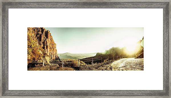 Rugged Mountain Trail Framed Print