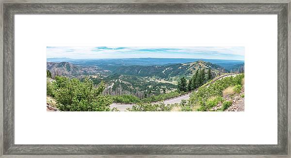 Ruidoso, Nm Panoramic Framed Print