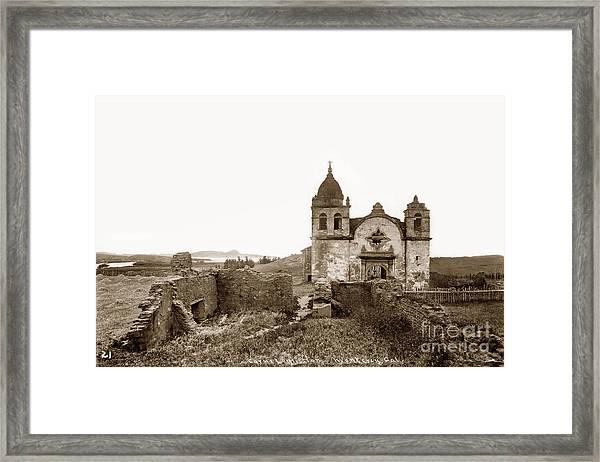 Ruins Of Carmel Mission, Monterey, Cal. Circa 1882 Framed Print