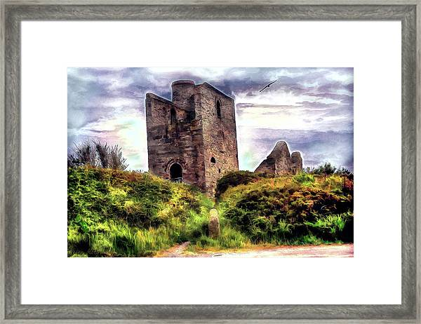 Ruins Of The Old Tin Mine Framed Print