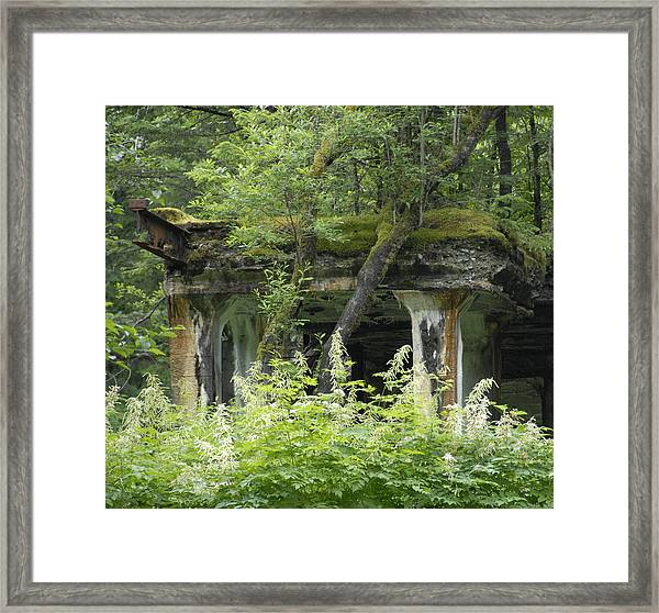 Ruins Of Treadwell Mines Framed Print