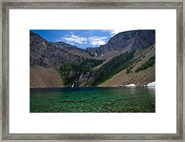 Rumble Lake Framed Print