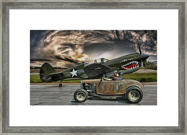 Rumble With The Warhawk .... Framed Print