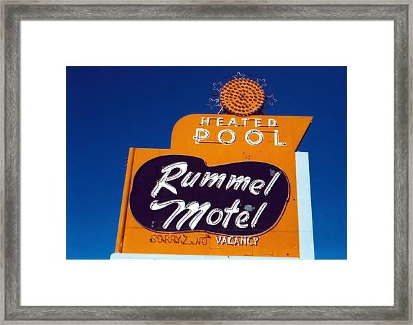Rummel Motel Framed Print
