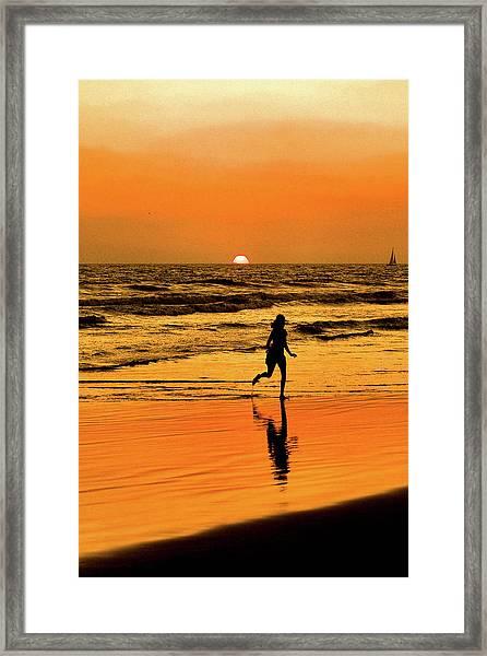 Run To The Sun Framed Print