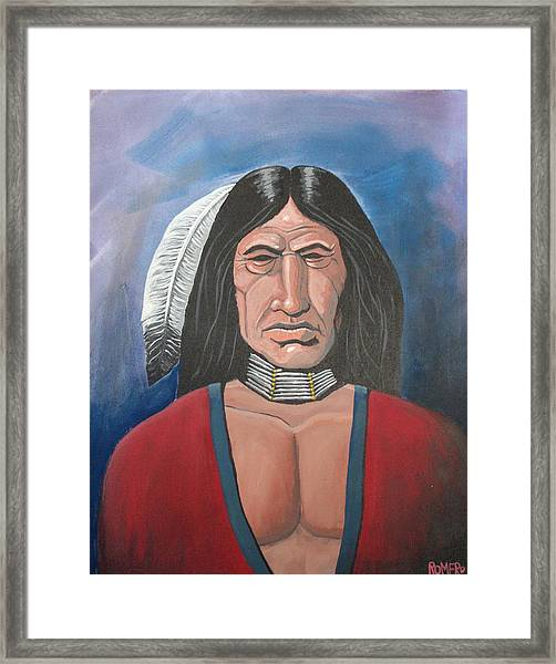 Framed Print featuring the painting Running Bear by Antonio Romero