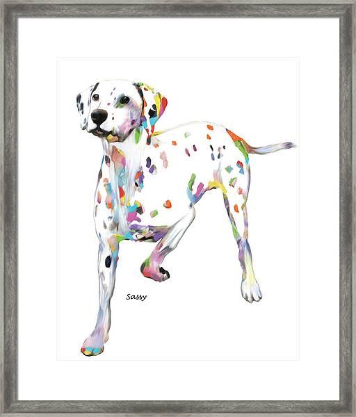 Running Dalmatian Framed Print