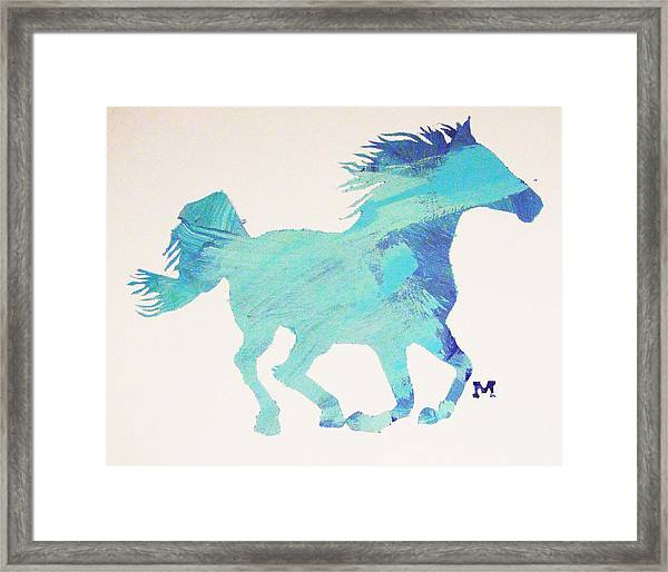 Framed Print featuring the painting Running Free by Candace Shrope