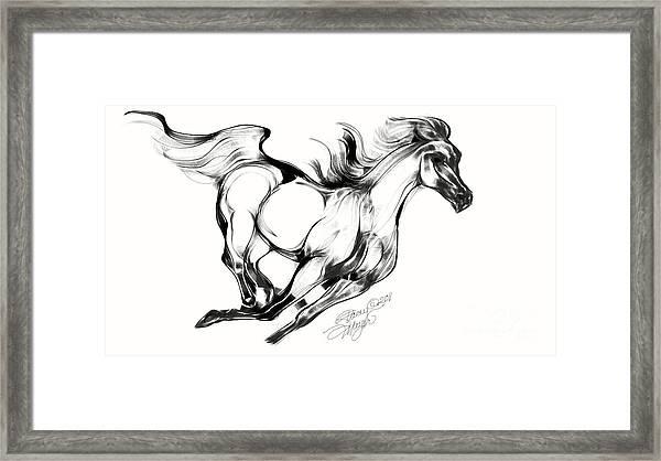 Night Running Horse Framed Print