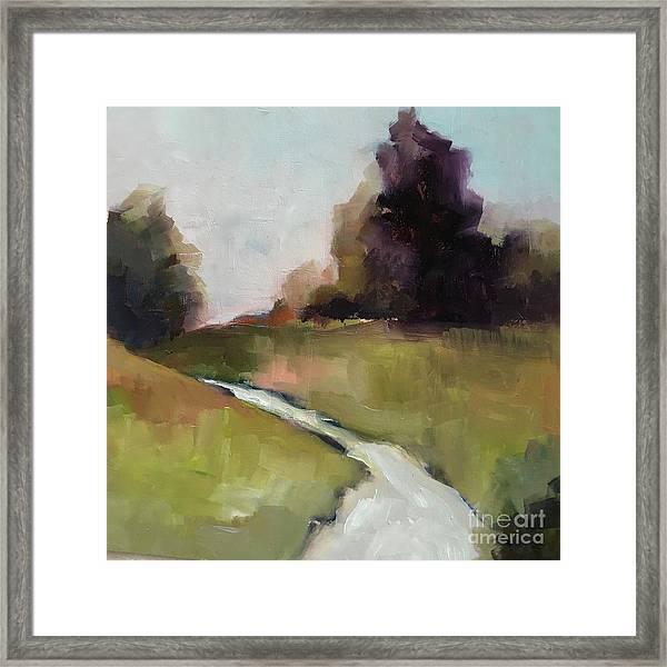Running Stream Framed Print