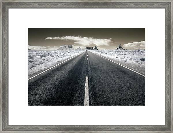 Running To The Edge Of The World Framed Print