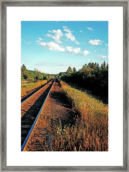 Rural Country Side Train Tracks Framed Print