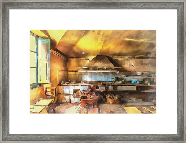 Rural Culinary Atmosphere Nr 2 - Atmosfera Culinaria Rurale IIi Paint Framed Print