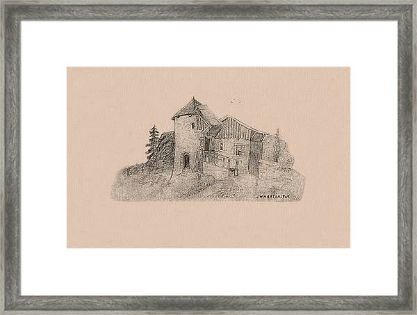 Rural English Dwelling Framed Print