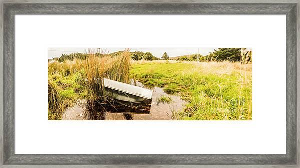Rural Tasmania Farm Scene Framed Print