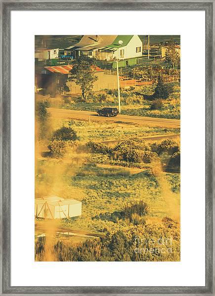 Rural Tasmania Landscape At Summer Framed Print