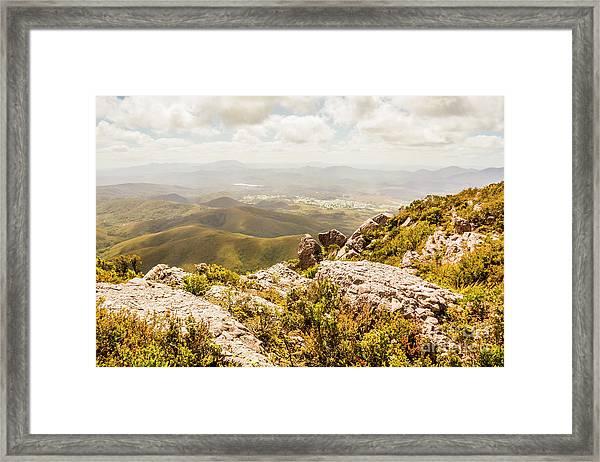Rural Town Valley Framed Print