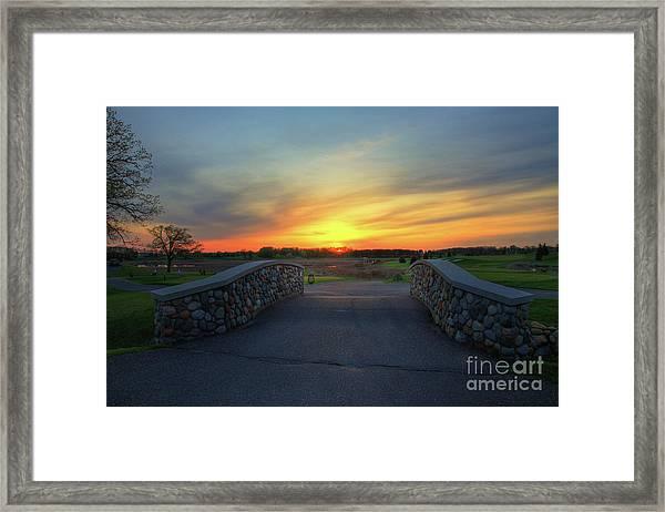 Rush Creek Golf Course The Bridge To Sunset Framed Print
