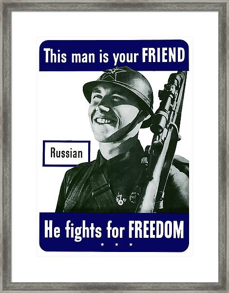 Russian - This Man Is Your Friend Framed Print