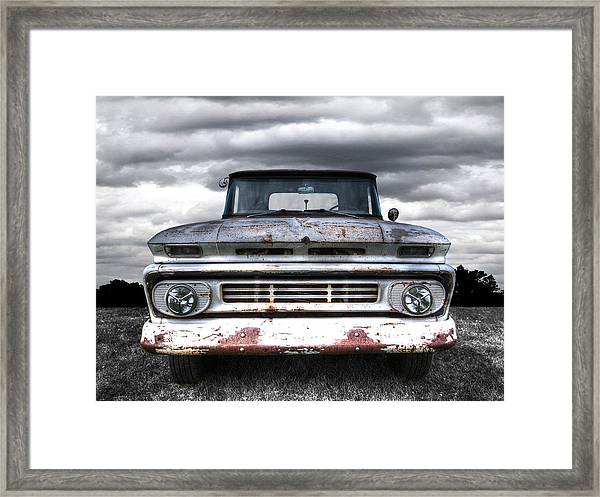 Rust And Proud - 62 Chevy Fleetside Framed Print