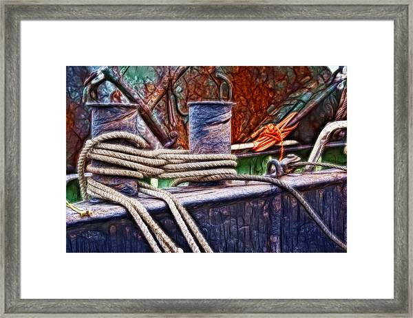 Rust And Rope Framed Print