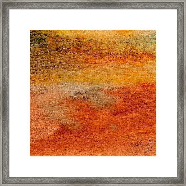 Rust And Sand 2 Framed Print