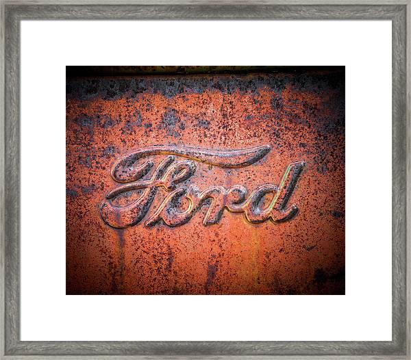 Rust Never Sleeps - Ford Framed Print