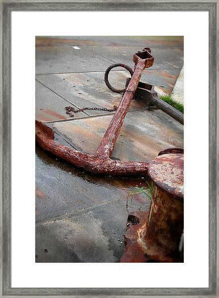 Rusted Anchors Framed Print
