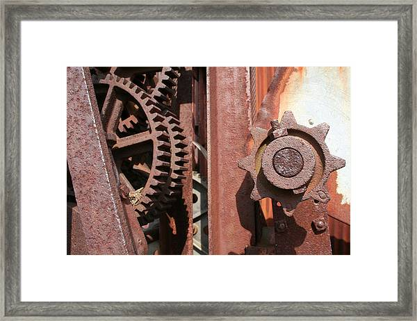Framed Print featuring the photograph Rusted Gears by Dylan Punke