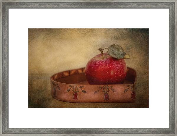 Rustic Apple Framed Print