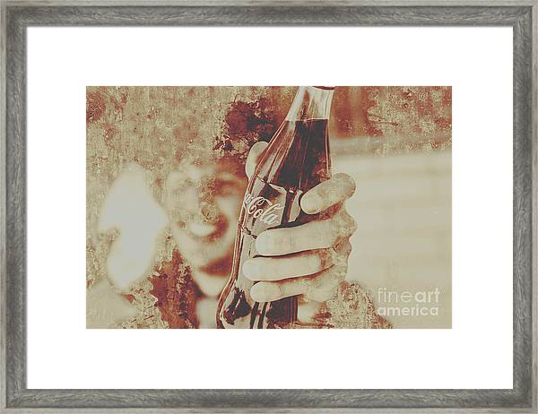 Rustic Drinks Advertising  Framed Print