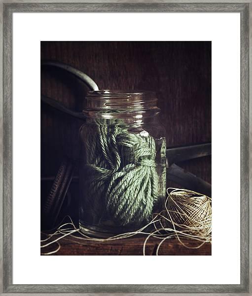 Rustic Green Framed Print