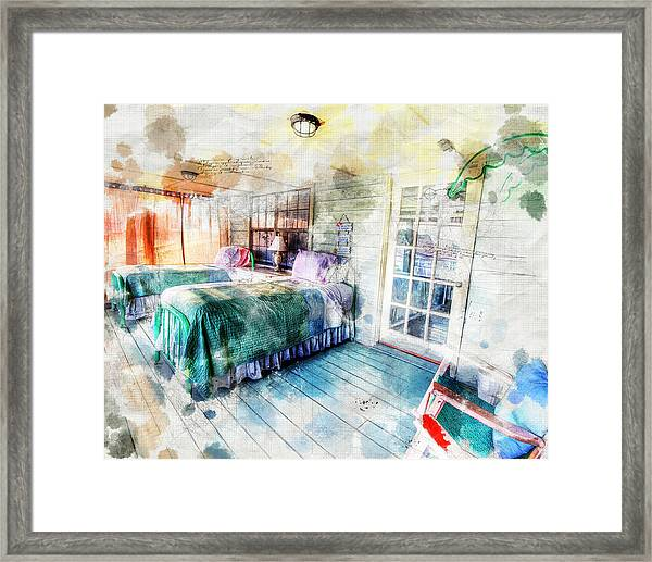 Rustic Look Bedroom Framed Print
