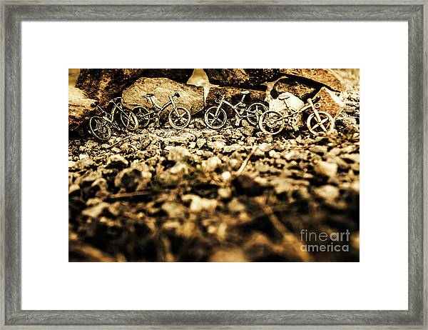 Rustic Mountain Bikes Framed Print