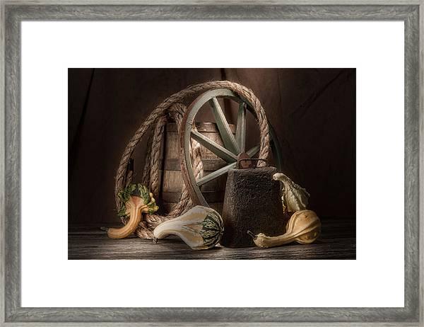 Rustic Still Life Framed Print