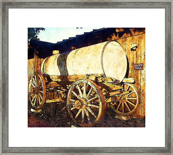 Rustic Warrior Framed Print