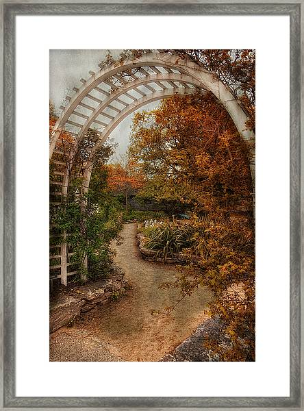 Rusting Garden Framed Print