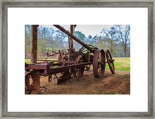 Rusty Farming Framed Print