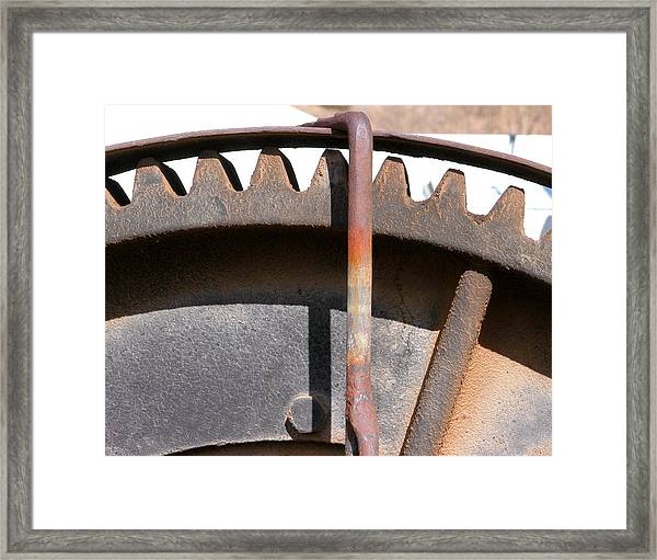 Framed Print featuring the photograph Rusty Gear by Joseph R Luciano
