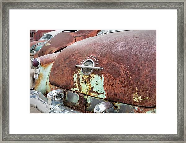 Rusty Line-up Framed Print