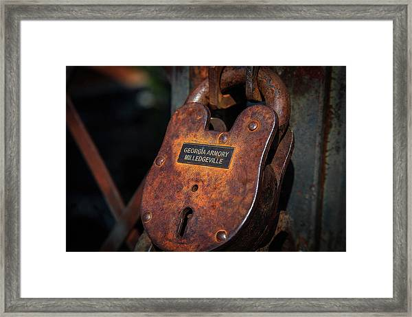Rusty Lock Framed Print