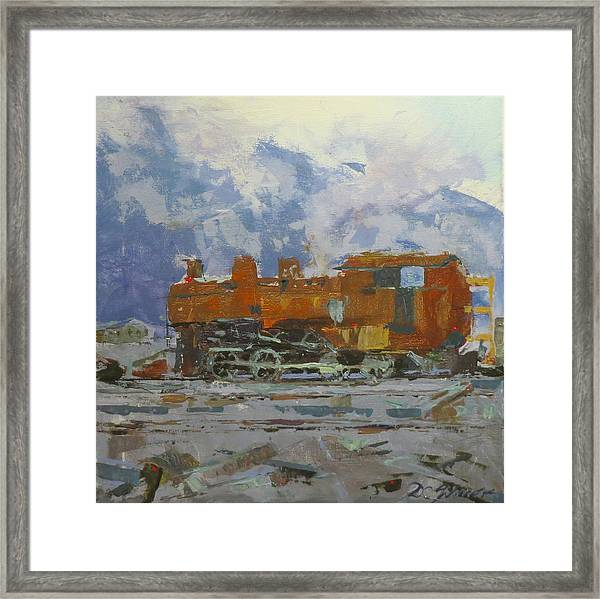 Rusty Loco Framed Print