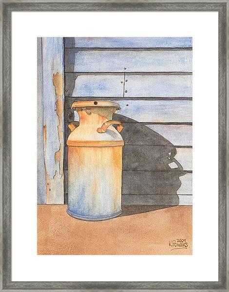 Rusty Milk Framed Print