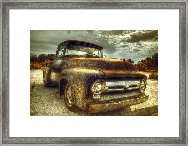 Rusty Truck Framed Print