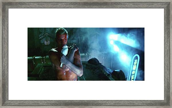 Rutger Hauer Number 2 Blade Runner Publicity Photo 1982 Color Added 2016 Framed Print