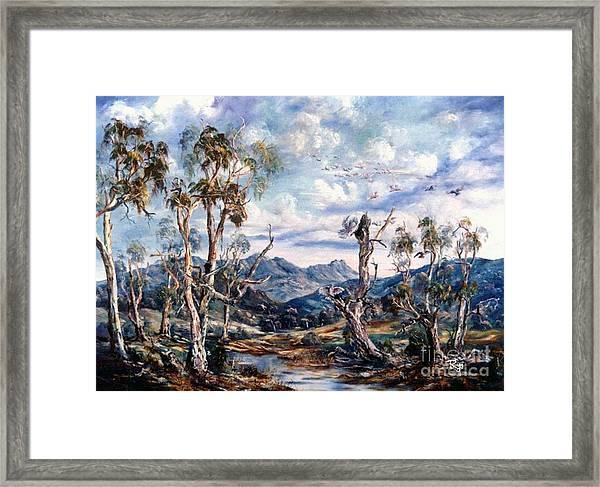 Rwetyepme, Mount Sonda Central Australia Framed Print