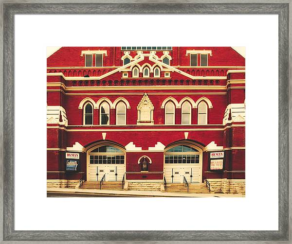 Ryman Auditorium -the Home Of Country Music Framed Print
