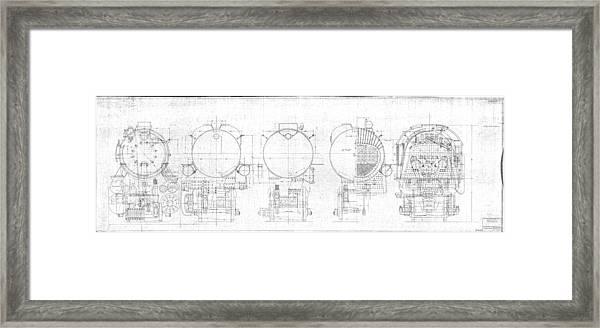 S-1a Cross Sections Framed Print