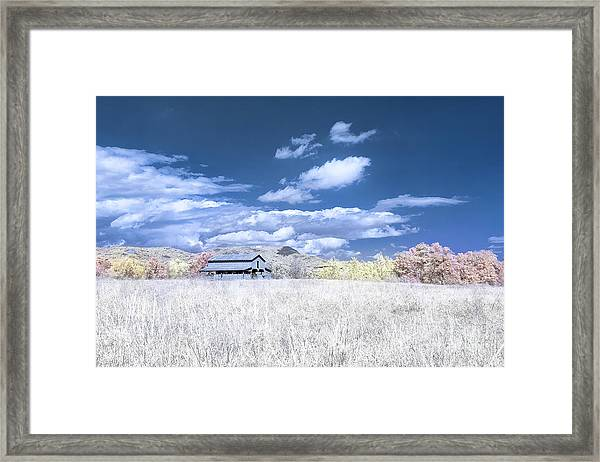 S C Upstate Barn Faux Color Framed Print